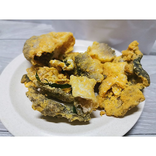 Fried Salmon Fish Skin (Ready to Eat), 600gm per packet