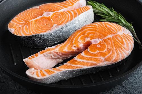Salmon, Steak Cut (三文鱼切片), 250gm - 300gm per piece