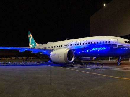 Boeing rolls out the 737 MAX 7
