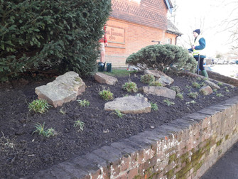 Updating All Saints Church front wall bed