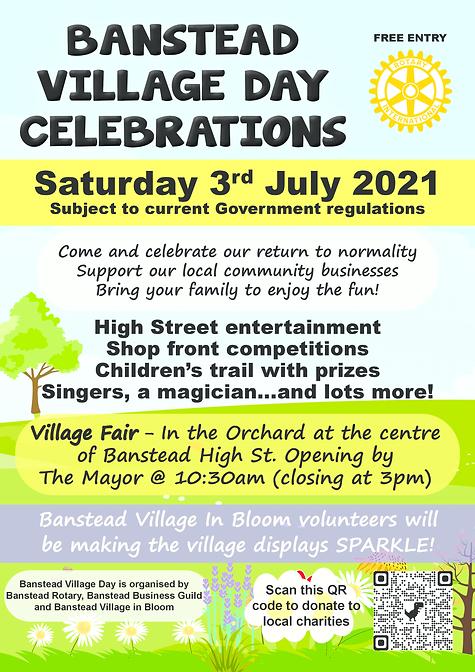Banstead Village Day 2021 Poster Current