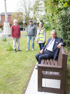Banstead Village in Bloom erected a new bench