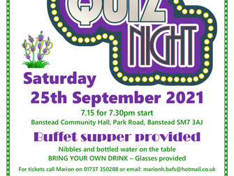 BVIB invite you to a Quiz Night