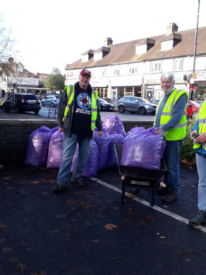 Volunteers help to keep the High Street looking ship shape