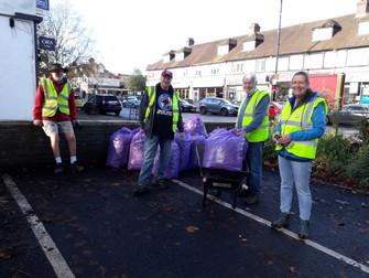 Volunteers help to keep the High Street looking ship shape