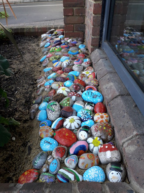 Painted stones for Banstead Village in Bloom