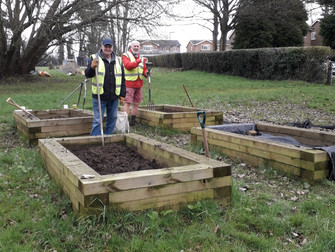 Raised beds in the Holly Lane allotments