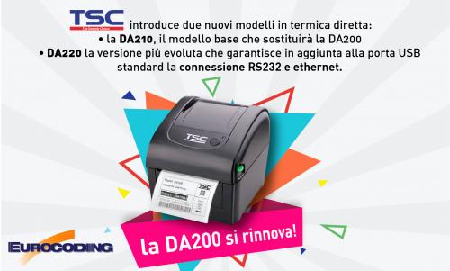 Eurocoding TSC DA210 DA220 stampanti a termica diretta