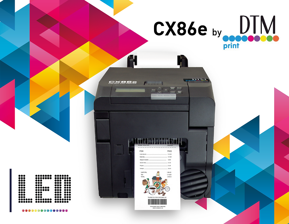 CX86e: la nuova stampante a colori con tecnologia LED di DTM