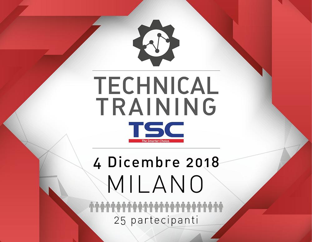 Technical training TSC Corso Tecnico sulle stampanti TSC 4 Dicembre 2018 Milano Iscrizioni a numero chiuso