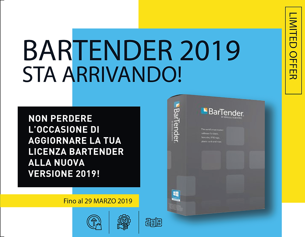 Seagull Scientific Bartender 2019 10.1 upgrade free version garanzia manutenzione eurocoding