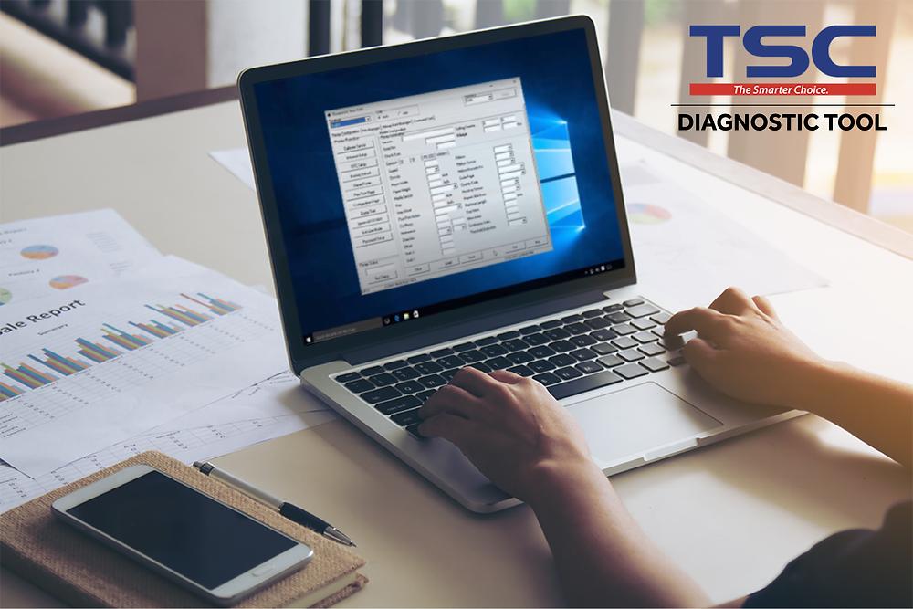 La soluzione di TSC è il DiagTool, uno strumento integrato che incorpora tutte le funzionalità necessarie per consentire la gestione e la modifica delle impostazioni della stampante, scaricare fonts, grafiche e firmware e non da ultimo permettere l'invio di comandi diretti alla stampante.