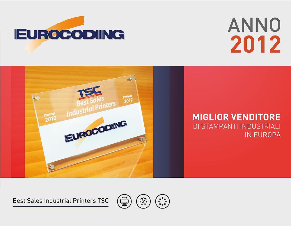 Eurocoding Premio TSC 2012 Miglior venditore di stampanti industriali