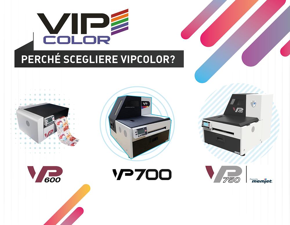 VIPcolor Stampanti a colori VP600 VP700 Vp750