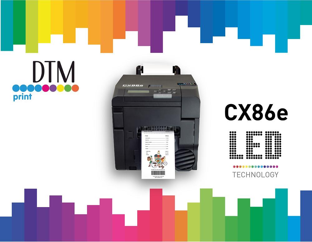 CX86e la nuova stampante di etichette a colori con tecnologia LED