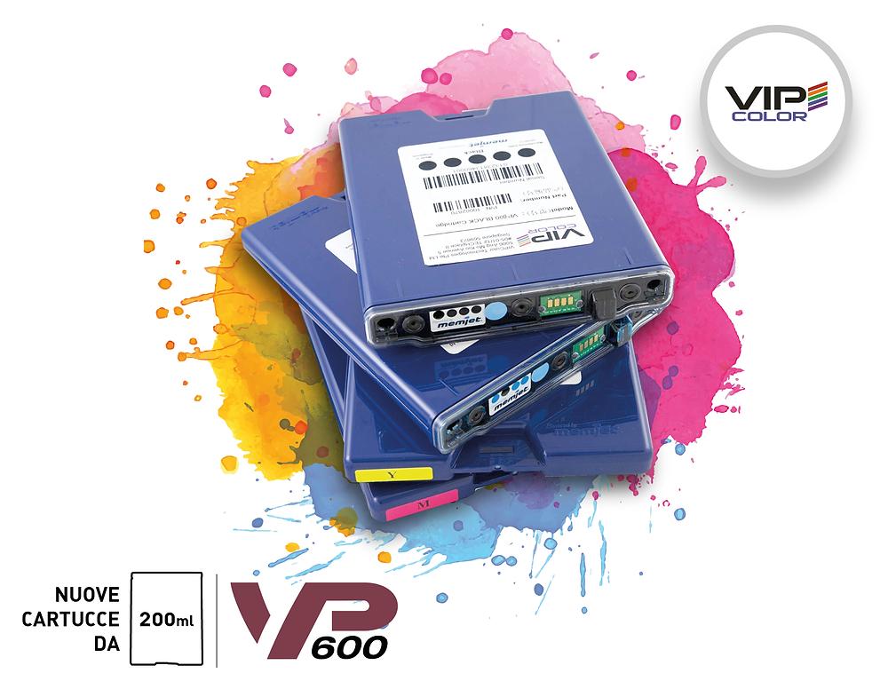 Le nuove cartucce della VP600 più capienti, da 200ml