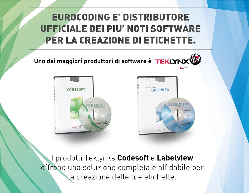 Eurocoding offre a tutti i rivenditori uno sconto del 40% su tutte le licenze Codesoft e Labelview di Teklynks