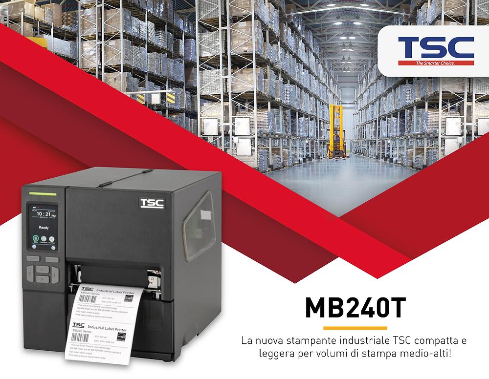 MB240T la nuova stampante industriale di TSC
