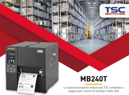 MB240T: la nuova stampante industriale TSC compatta e leggera per volumi di stampa medio-alti!