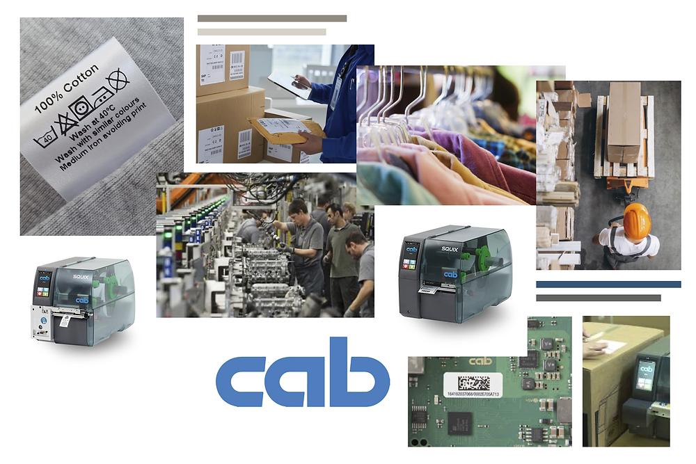 Le stampanti CAB della serie SQUIX coprono molti campi d'applicazione: da quello manifatturiero a quello logistico.