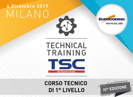 TECHNICAL TRAINING TSC 1° LIVELLO!