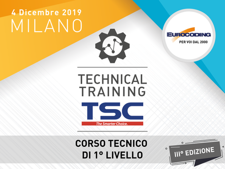 TECHNICAL TRAINING TSC 1° LIVELLO!