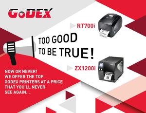 GoDex RT700i GoDex ZX1200i promo