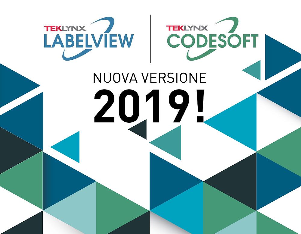 Nuova versione 2019 LabelView e Codesoft