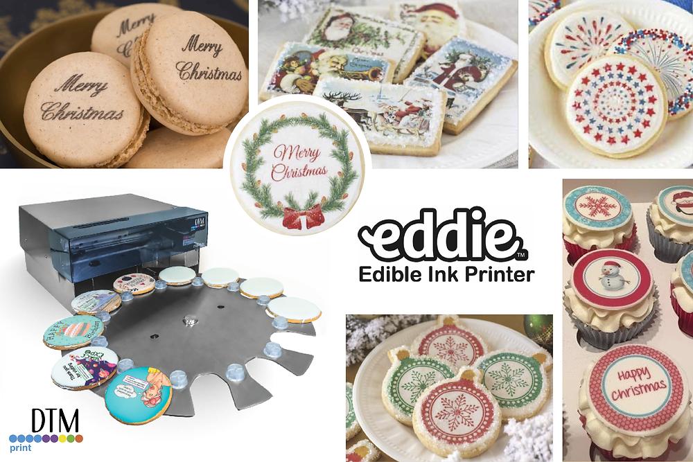 Eddi stampante DTM disponibile da Eurocoding che stampa sul cibo