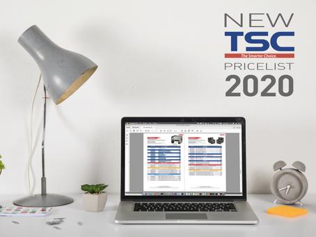 Il nuovo listino2020TSC ora sul sito!