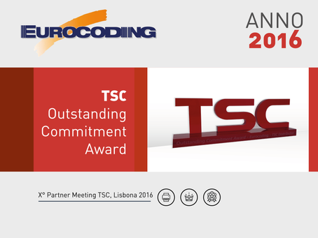PARTNER MEETING TSC LISBONA 2016 - OUTSTANDING COMMITMENT AWARD