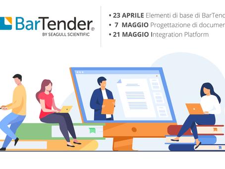 Eurocoding invita tutti i suoi partner a partecipare ai corsi tecnici on-line su BarTender 2021!