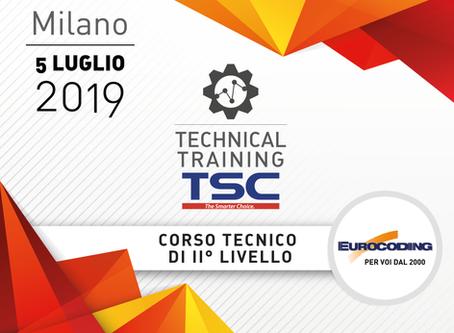 CORSO TECNICO TSC - II° LIVELLO - 5 Luglio 2019