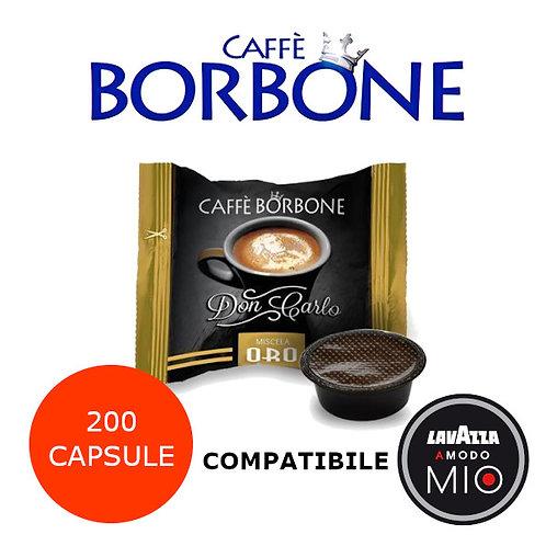 200 caffè BORBONE miscela ORO-COMPATIBILE LAVAZZA A MODO MIO