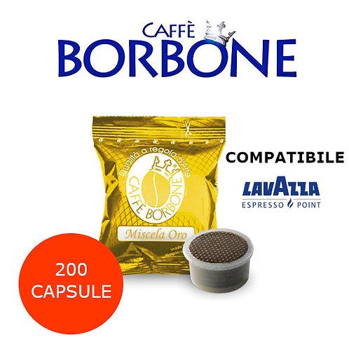 200 caffè BORBONE miscela ORO-COMPATIBILE ESPRESSO POINT