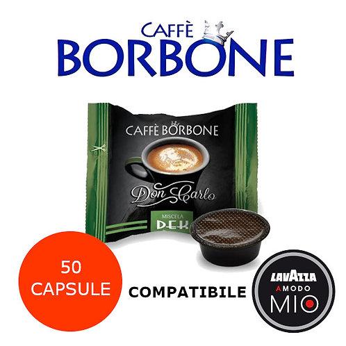50 caffè BORBONE miscela VERDE DEK-COMPATIBILE LAVAZZA A MODO MIO