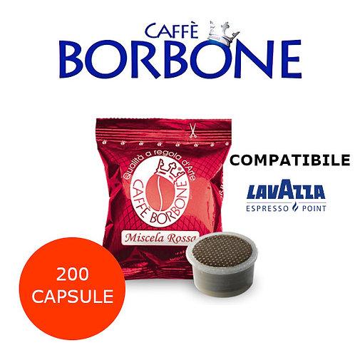 200 caffè BORBONE miscela ROSSA-COMPATIBILE ESPRESSO POINT