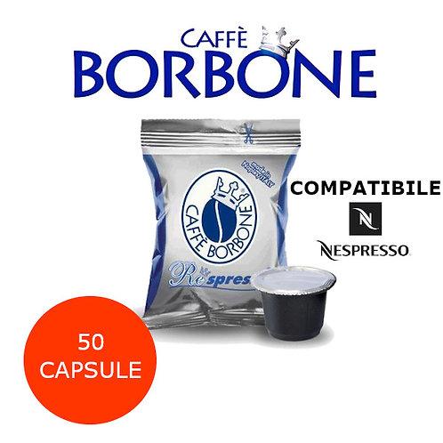 50 caffè BORBONE miscela BLU-COMPATIBILE NESPRESSO