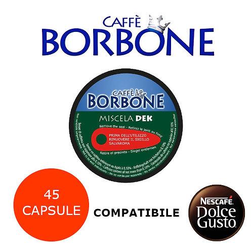45 caffè BORBONE miscela VERDE DEK-COMPATIBILE DOLCE GUSTO
