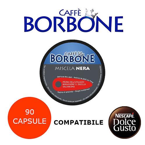 90 caffè BORBONE miscela NERA-COMPATIBILE DOLCE GUSTO