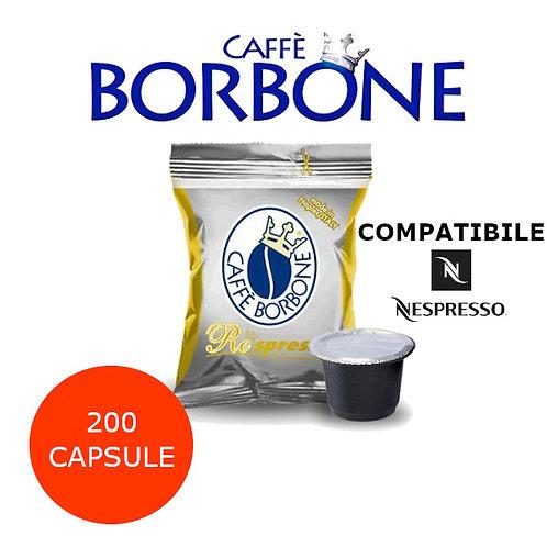 200 caffè BORBONE miscela ORO-COMPATIBILE NESPRESSO