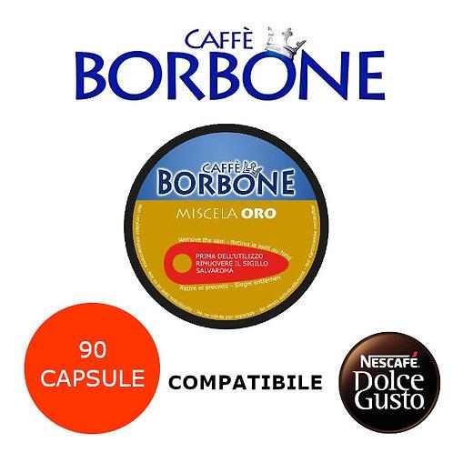 90 caffè BORBONE miscela ORO-COMPATIBILE DOLCE GUSTO