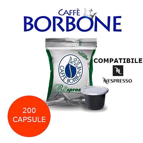 200 caffè BORBONE miscela VERDE DEK-COMPATIBILE NESPRESSO