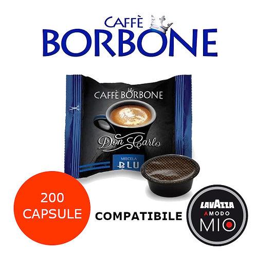 200 caffè BORBONE miscela BLU-COMPATIBILE LAVAZZA A MODO MIO