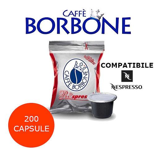 200 caffè BORBONE miscela ROSSA-COMPATIBILE NESPRESSO