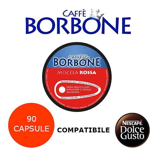 90 caffè BORBONE miscela ROSSA-COMPATIBILE DOLCE GUSTO