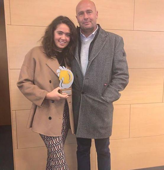 Carla de la Fuente with César de la Fuente, her father and coach, at the FHCL Gala - Instagram Aequima