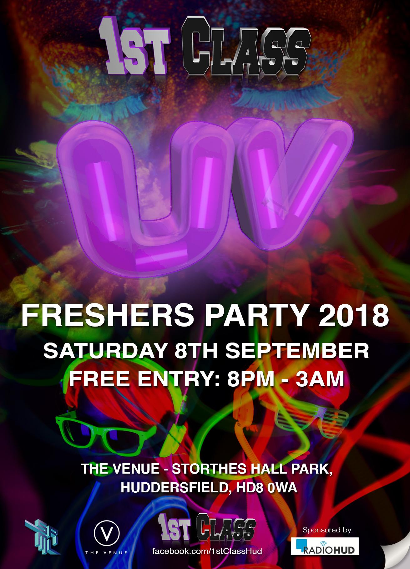 1st Class UV Freshers 2018