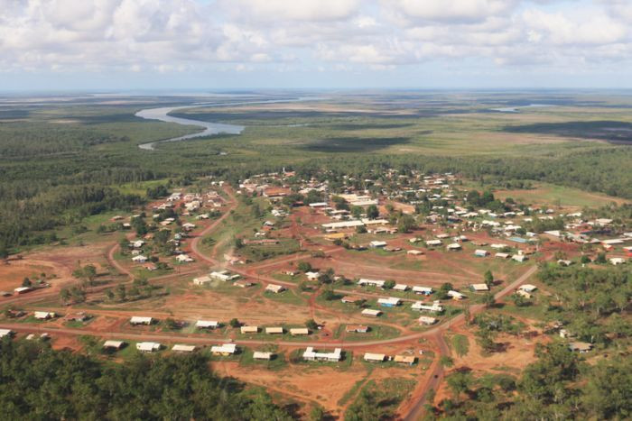 Areal shot of Wadeye (James Dunlevie, ABC News)