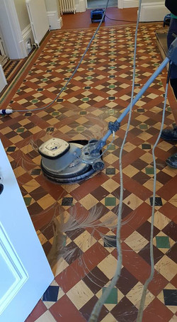 Victorian floor clean and seal